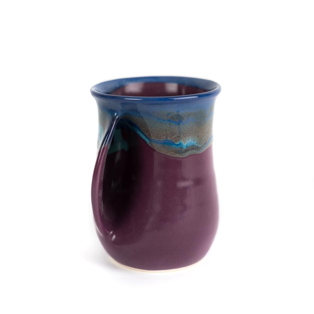 HANDWARMER MUG -  Made for Left and Right Handed - Made in USA - PURPLE PASSION GLAZE -