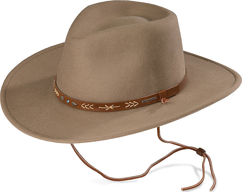 05ed5ea7029 Stetson Santa Fe Hat - Crushable Wool Felt - Men s or Women s - Made in USA