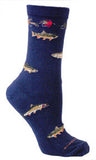 Trout and Fishing Socks for Men and Women - Made in USA