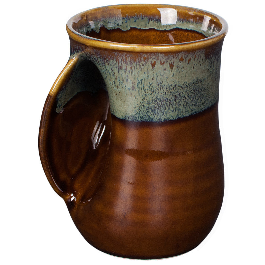 HANDWARMER MUG – Made for Left and Right Handed – Made in USA - MOCHA BROWN