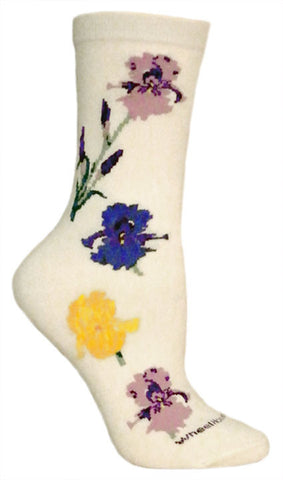 Red Rose Flower Socks for Men and Women - Made in USA