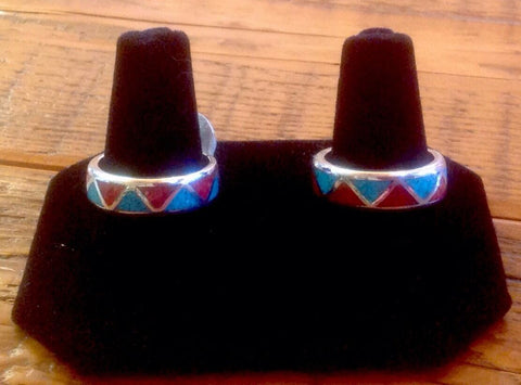 Native American Jewelry - Sterling Silver and Turquoise Butterfly Adjustable Ring - Hand Made in USA