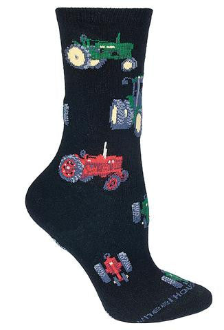 Tractor Socks on Black for Men and Women - Made in USA