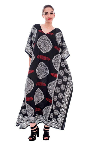 Long Maxi paisley Print Plus Size Sparkly Caftan for Women - Oussum