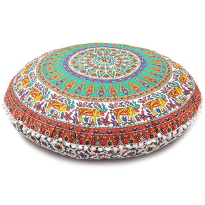 New Large Oversized Multi-Color Hippie Bohomian Throw Decorative Floor Pillow Cushion Cover Mandala - 32""