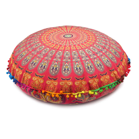 Cozy Mandala Print Oversized Floor Pillow Cover.