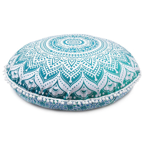 Charming Green Ombre Decorative Floor Pillow Cover