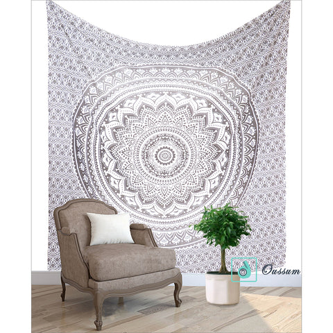 Goood Times Queen Size Ombre Mandala Tapestry