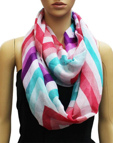 Women's Jersey Knit Infinity Loop Scarf - Oussum