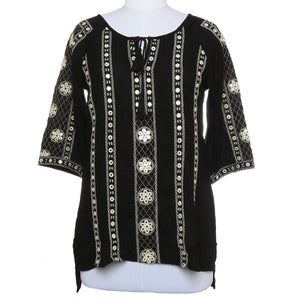 Mirror Embroidered Colored Stylish Misses Tops