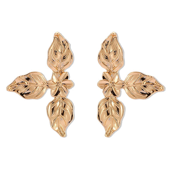 3 Leaf Flower Stud