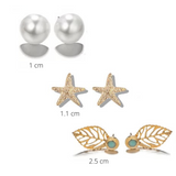 Star Fish Earring Set - 3 Pack