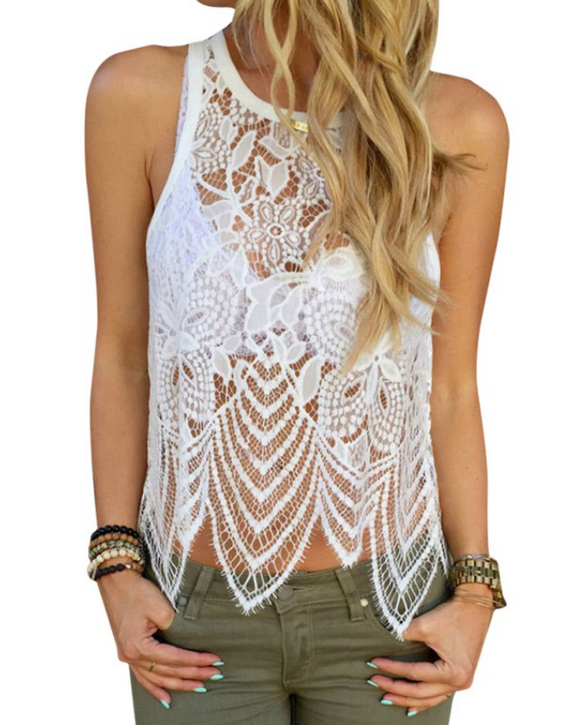 LACE STRAPPY TOP