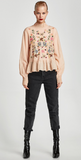 EMBROIDERED FRILLED TOP