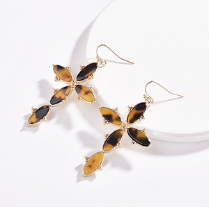 Retro Leopard Print Earrings