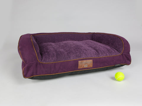 Exbury Dog Sofa Bed - Deluxe Edition - Blackberry, Medium