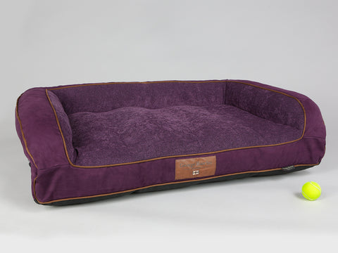 Exbury Sofa Bed - Deluxe Edition - Blackberry, Large - 120 x 75 x 27cm