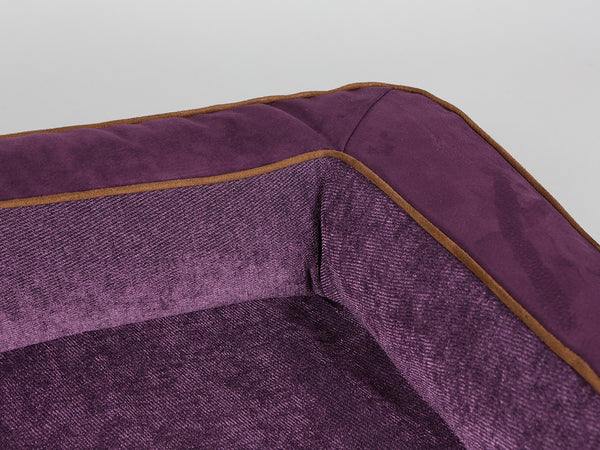 Exbury Dog Sofa Bed - Deluxe Edition - Blackberry, Large