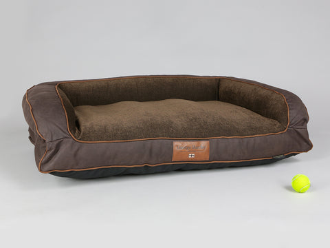 Exbury Dog Sofa Bed - Deluxe Edition - Espresso, Large