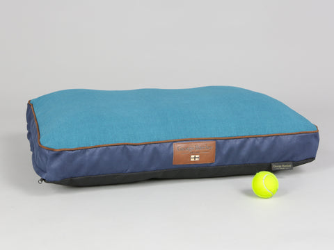 Beckley Mattress Bed - Deluxe Edition - Aquamarine, Medium - 80 x 60 x 8cm