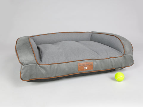 Beckley Dog Sofa Bed - Pewter / Ash, Medium