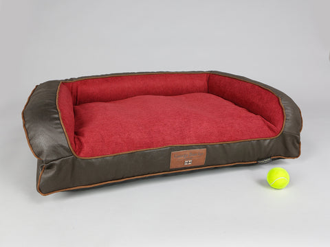 Beckley Dog Sofa Bed - Deluxe Edition - Mahogany / Cherry, Medium