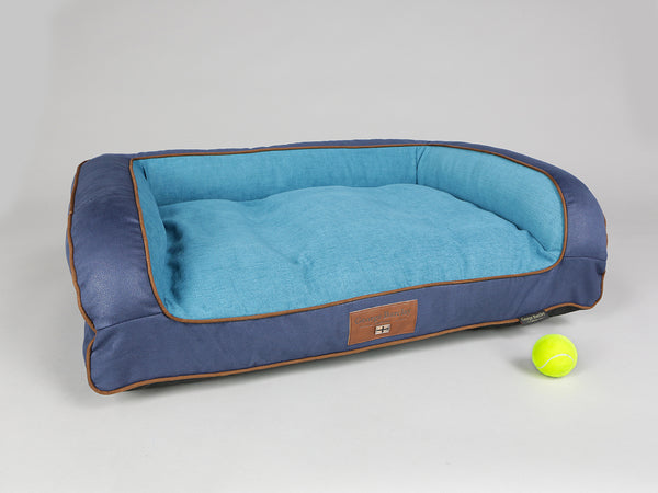 Beckley Dog Sofa Bed - Deluxe Edition - Aquamarine, Medium