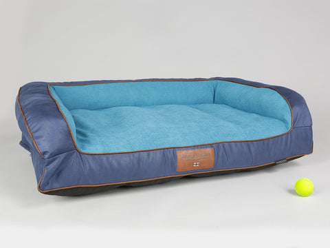 Beckley Dog Sofa Bed - Deluxe Edition - Aquamarine, Large