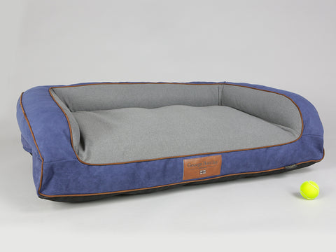 Beckley Dog Sofa Bed - Navy / Ash, Large