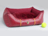 Holmsley Box Bed – Oxblood Red, Small - 60 x 45 x 19cm