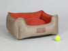 Selbourne Orthopaedic Walled Dog Bed - Ginger / Ember, Small