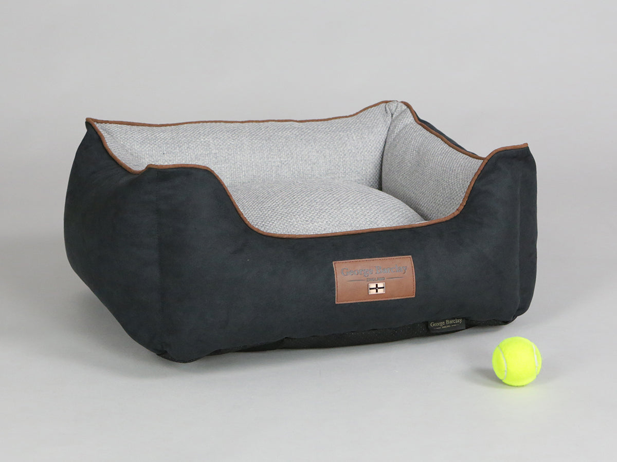 Exbury Orthopaedic Walled Dog Bed - Meteorite / Frost, Small