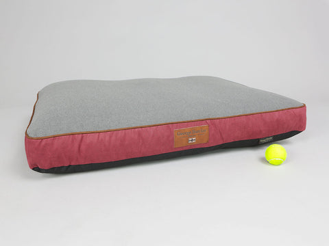 Hursley Mattress Bed - Cabernet / Ash, Large - 100 x 70 x 10cm