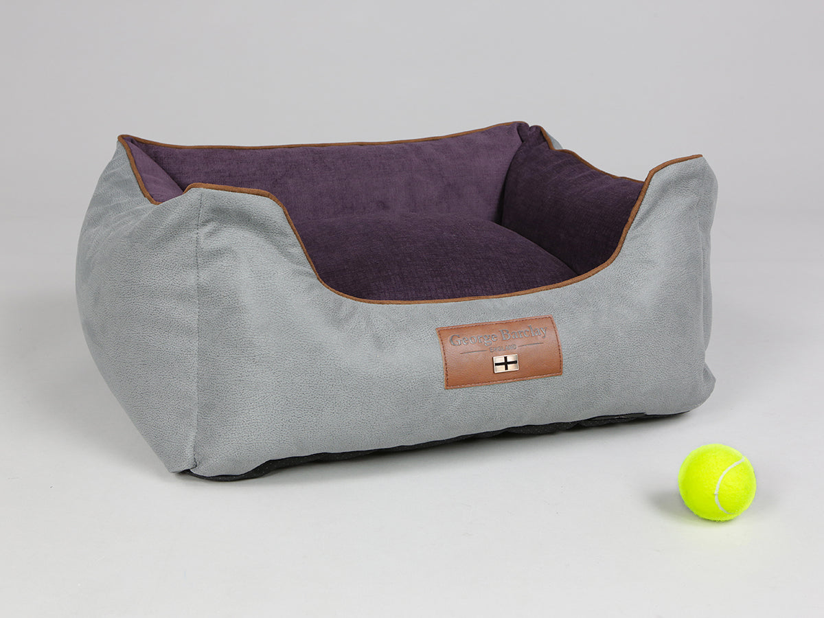 Beckley Orthopaedic Box Bed - Silver / Vino, Small - 60 x 50 x 27cm