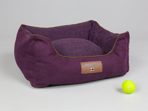 Exbury Orthopaedic Walled Dog Bed - Deluxe Edition - Blackberry, Small