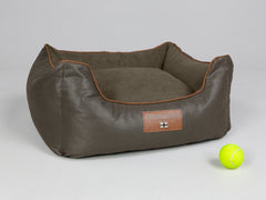 Beckley Orthopaedic Walled Dog Bed - Mahogany / Chestnut, Small