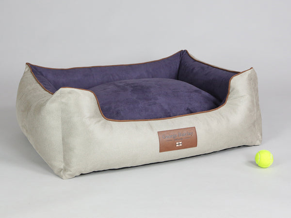 Selbourne Orthopaedic Walled Dog Bed - Taupe / Grape, Large