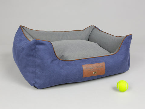 Beckley Orthopaedic Box Bed - Navy / Ash, Medium - 75 x 60 x 30cm