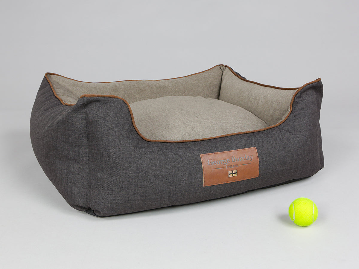 Hyde Orthopaedic Box Bed -  Espresso / Latte, Medium - 75 x 60 x 30cm