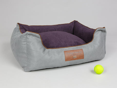 Beckley Orthopaedic Walled Dog Bed - Silver / Vino, Medium