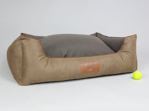 Monxton Orthopaedic Box Bed - Cocoa / Chestnut, X-Large - 105 x 80 x 36cm