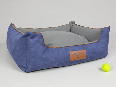 Beckley Orthopaedic Walled Dog Bed - Navy / Ash, Large