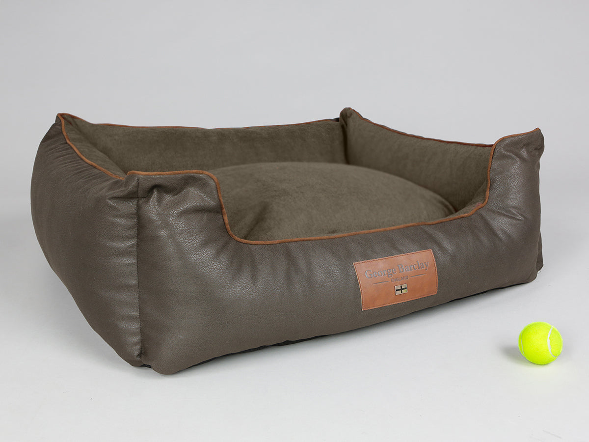 Beckley Orthopaedic Walled Dog Bed - Mahogany / Chestnut, Large