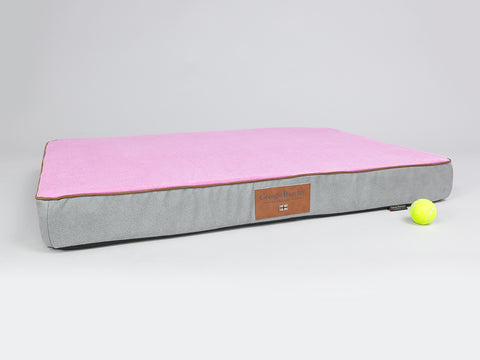 Selbourne Dog Mattress - Fossil / Fuchsia, X-Large