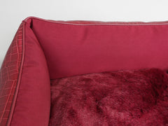 Holmsley Box Bed – Oxblood Red, X-Small - 50 x 40 x 16cm