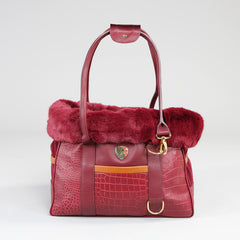 Holmsley Pet Carrier – Oxblood Red