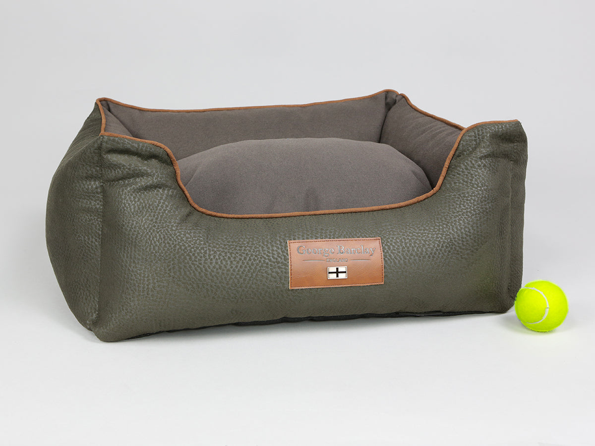 Beauworth Orthopaedic Walled Dog Bed - Coffee Bean, Small