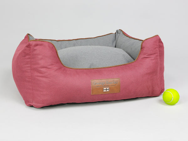 Hursley Orthopaedic Walled Dog Bed - Cabernet / Ash, Small