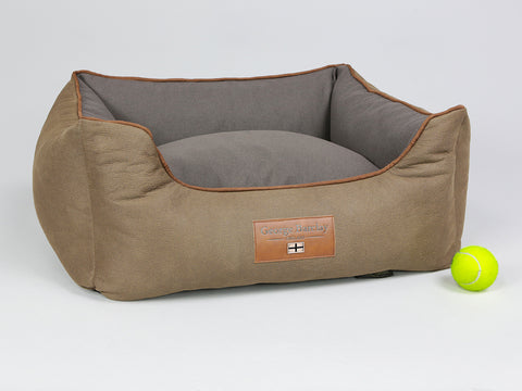 Monxton Orthopaedic Box Bed -  Cocoa / Chestnut, Small - 60 x 50 x 27cm