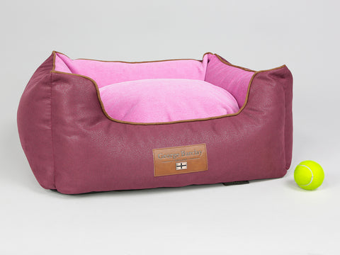 Selbourne Orthopaedic Walled Dog Bed - Grape / Fuchsia, Small